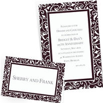 Black Custom Wedding Invitations & Banners