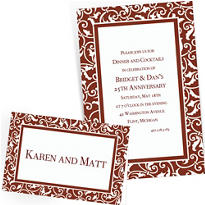Chocolate Brown Custom Wedding Invitations & Banners