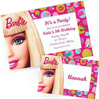 Custom Barbie Invitations & Thank You Notes