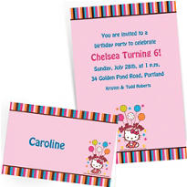 Custom Hello Kitty Invitations & Thank You Notes