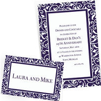 Custom Royal Blue Wedding Invitations & Thank You Notes