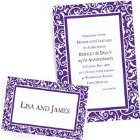 Custom Purple Wedding Invitations & Thank You Notes