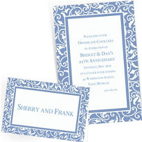 Pastel Blue Custom Wedding Invitations & Banners