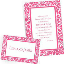 Custom Bright Pink Wedding Invitations & Thank You Notes