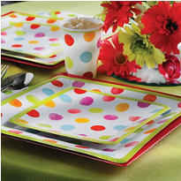Watercolor Dots Eco-Friendly Party Supplies