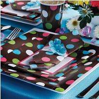 Chocolate & Dots Polka Dot Party Supplies