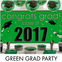 Green Congrats Grad Graduation Decorations