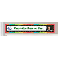 Custom 45th Birthday Banners