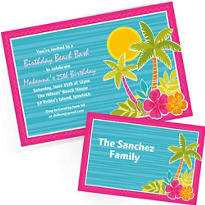 Custom Summer Invitations & Thank You Notes