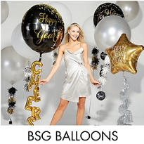 Black, Gold & Silver New Years Eve Balloons
