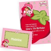 Custom Strawberry Shortcake Invitations & Thank You Notes