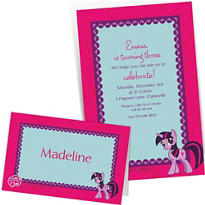 Custom My Little Pony Invitations & Thank You Notes