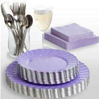 Lilac Scalloped Party Supplies