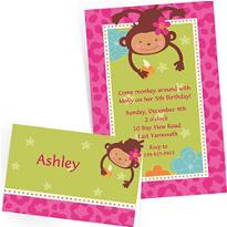 Custom Monkey Love Invitations & Thank You Notes