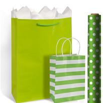 Green Gift Bags & Gift Wrap