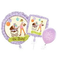 Modern Mommy Baby Shower Balloons