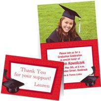 Custom Red Graduation Invitations