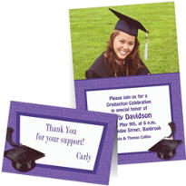 Custom Purple Graduation Invitations