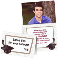 Custom White Graduation Invitations & Thank You Notes