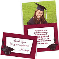 Custom Berry Graduation Invitations & Thank You Notes