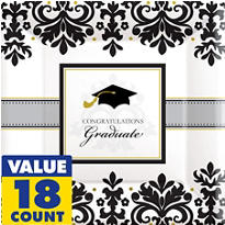 Black & White Graduation Super Party Supplies