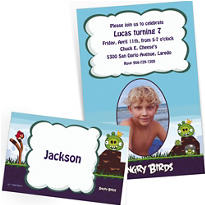 Custom Angry Birds Invitations & Thank You Notes