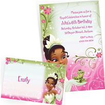 Custom Princess and the Frog Invitations & Thank You Notes