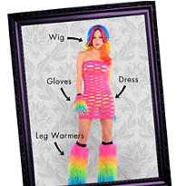 Electric Party Raver Mix & Match Women's Looks
