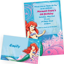 Custom Little Mermaid Invitations & Thank You Notes