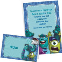 Custom Monsters University Invitations & Thank You Notes
