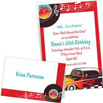 Custom 50s Theme Party Invitations & Thank You Notes