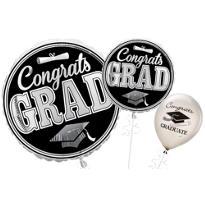 Silver Congrats Graduation Balloons