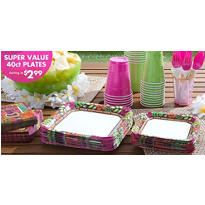 Summer Luau Value Plates & Tableware