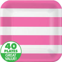 Pink Cabana Stripe Party Supplies