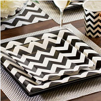 Black & White Chevron Party Supplies