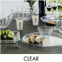 CLEAR Serving Trays, Bowls & Utensils