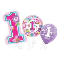 Sweet Girl 1st Birthday Balloons