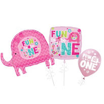 One Wild Girl 1st Birthday Balloons
