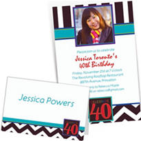Custom 40th Celebration Photo Invitations & Thank You Notes