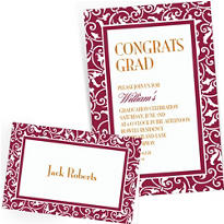 Custom Berry Wedding Invitations & Thank You Notes