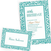 Robin's Egg Blue Custom Wedding Invitations & Banners