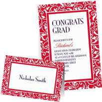 Red Custom Invitations & Banners
