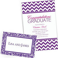 Purple Custom Invitations & Banners