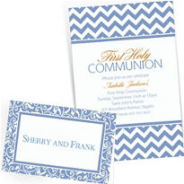 Pastel Blue Custom Invitations & Banners