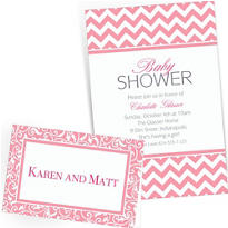 Pink Custom Invitations & Banners