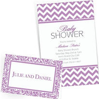 Lavender Custom Invitations & Banners