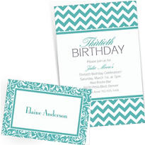 Robin's Egg Blue Custom Invitations & Banners