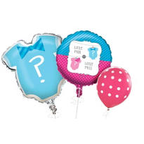 Bows & Bow Ties Gender Reveal Balloons