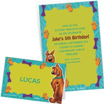 Custom Scooby Doo Invitations & Thank You Notes
