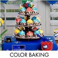 Colorful Brights Graduation Baking Supplies